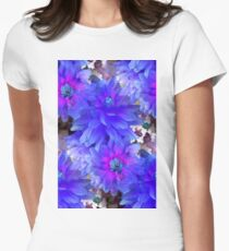Blue Dahlias Women's Fitted T-Shirt