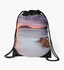 Shoal Bay Beach Sunrise Drawstring Bag