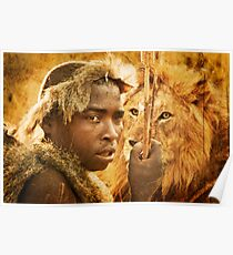 Bushman and the Lion Poster