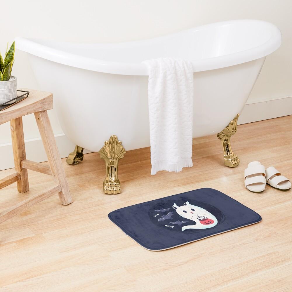 Ghost cat Bath Mat