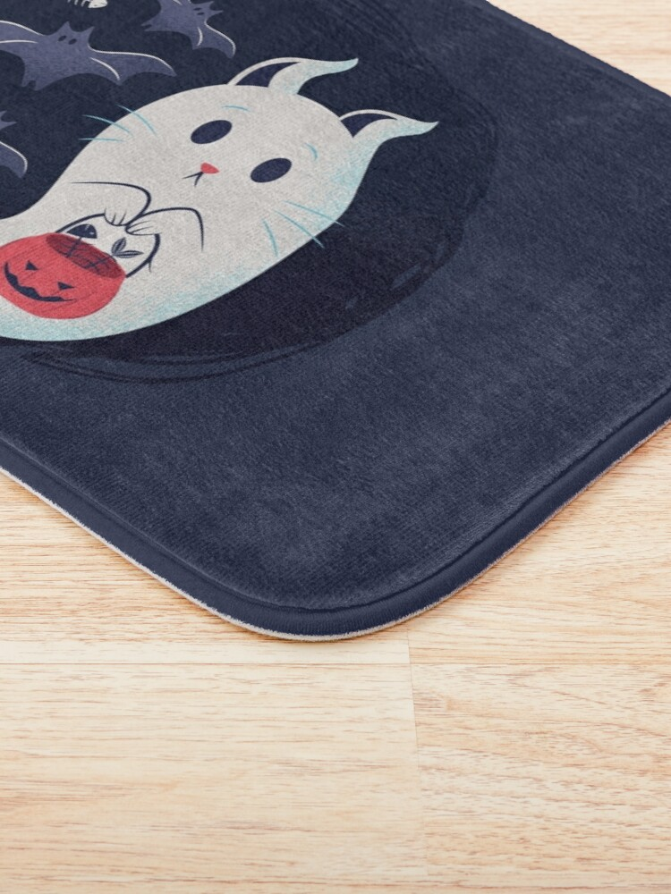 Alternate view of Ghost cat Bath Mat