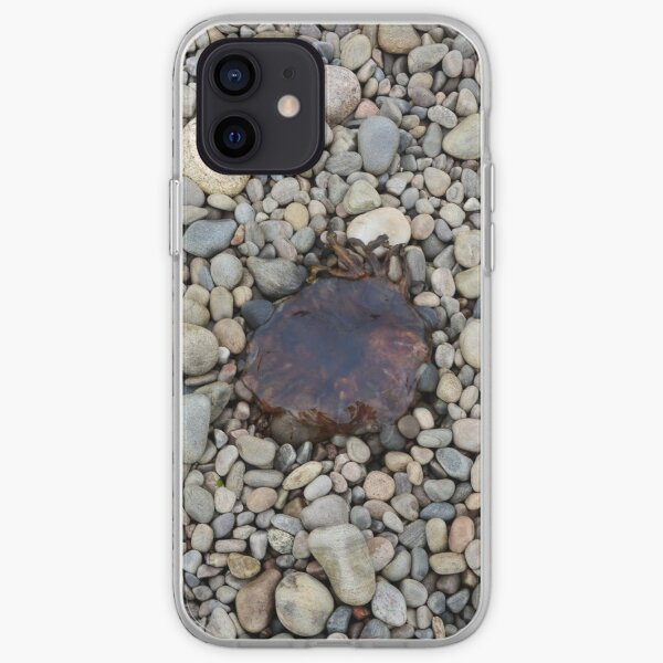 Jellyfish on a bed of pebbles iPhone Soft Case