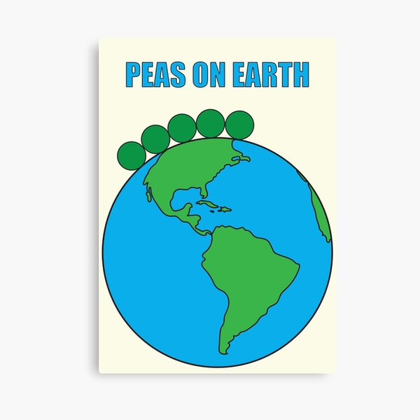 Peas On Earth Canvas Print