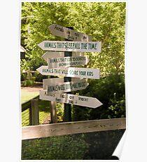 """Animal Signs"" - Humorous Zoo Sign Poster"