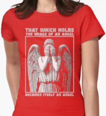 The image of an angel. (Bloody Version) Womens Fitted T-Shirt