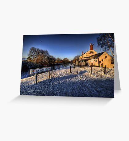 Winter At The Boat Inn  Greeting Card