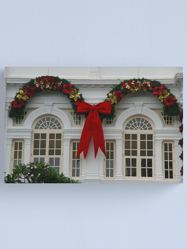 Alternate view of Christmas At The White House, Er, White Hotel Canvas Print