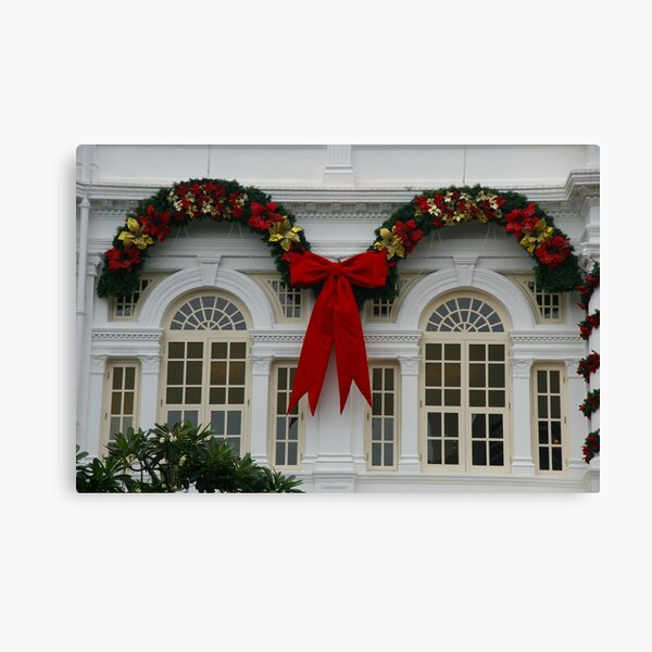 Christmas At The White House, Er, White Hotel Canvas Print