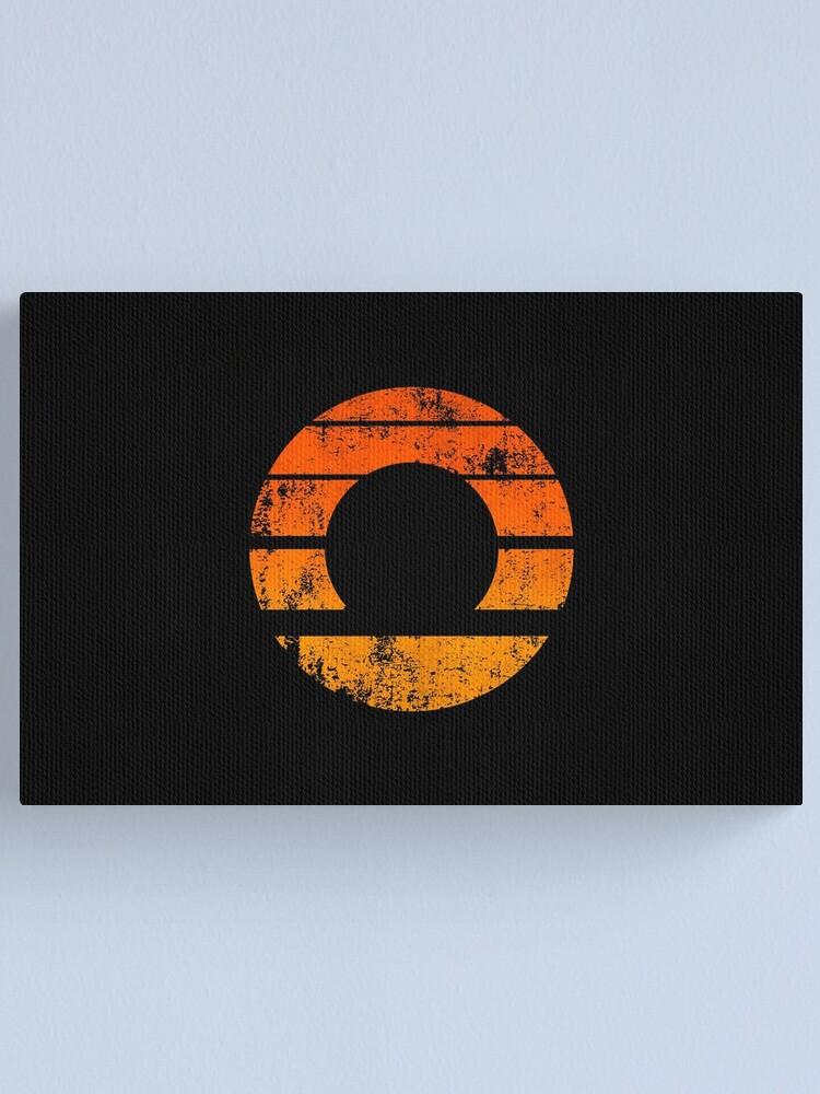 Alternate view of Aperture Science (Retro) Logo · Distressed Canvas Print