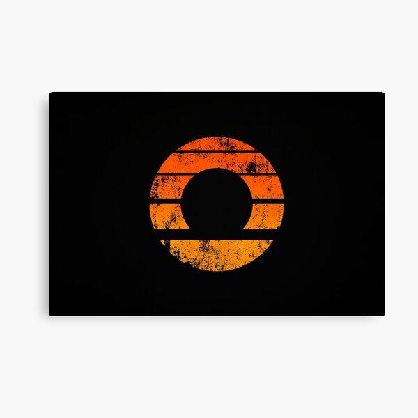 Aperture Science (Retro) Logo · Distressed Canvas Print
