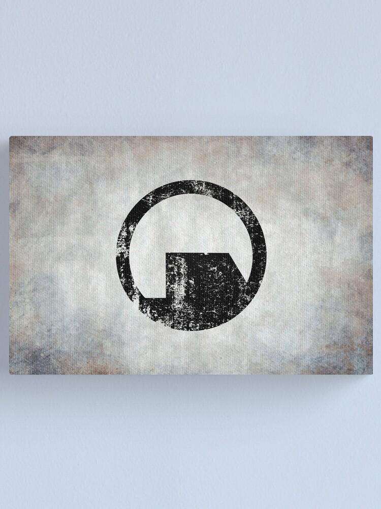 Alternate view of Black Mesa Logo · Distressed Canvas Print