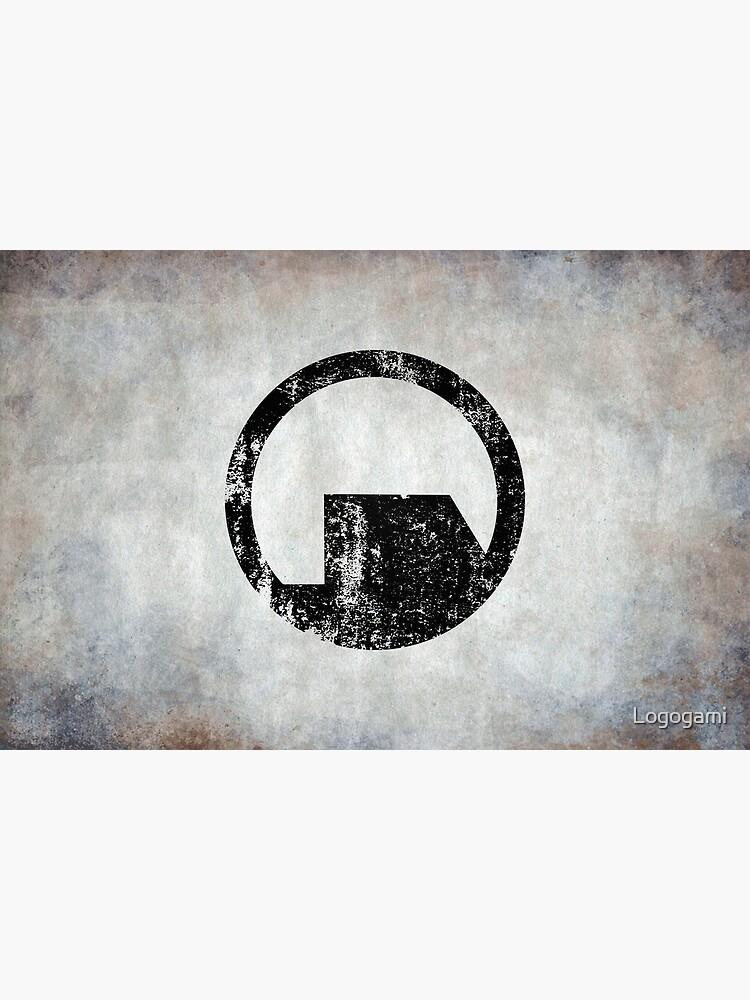 Black Mesa Logo · Distressed by Logogami