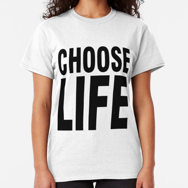 George Michael Choose Life White T-shirt Woman V-neck Rock Band Tee Shirt