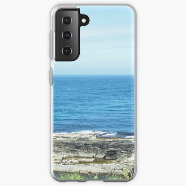 Rocks and raised ledge in sea Samsung Galaxy Soft Case