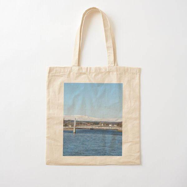 Ben Wyvis with Ness Bridge, Inverness Cotton Tote Bag
