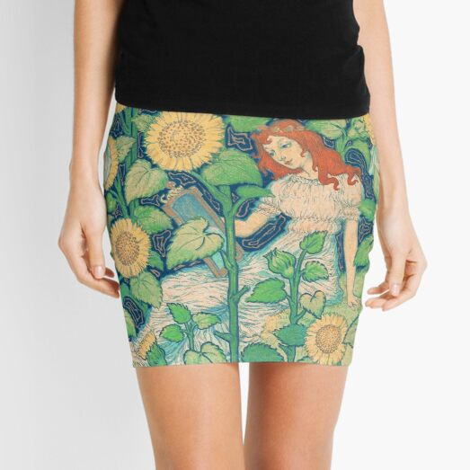 La Grande Dame by Eugène Grasset Mini Skirt