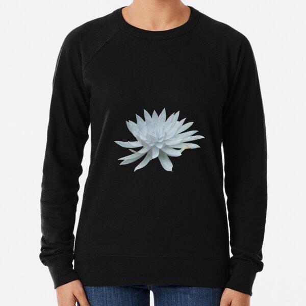 White Succulent Lightweight Sweatshirt