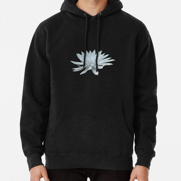 White Succulent Pullover Hoodie