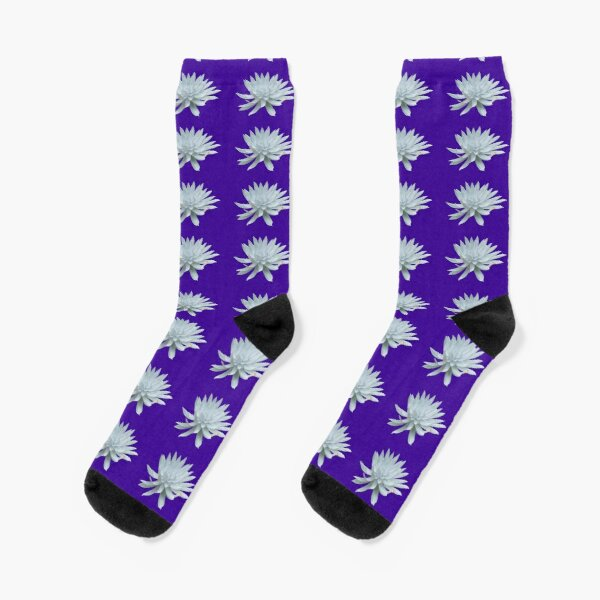 White Succulent Socks