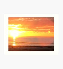 Sunset, Semaphore Beach Art Print