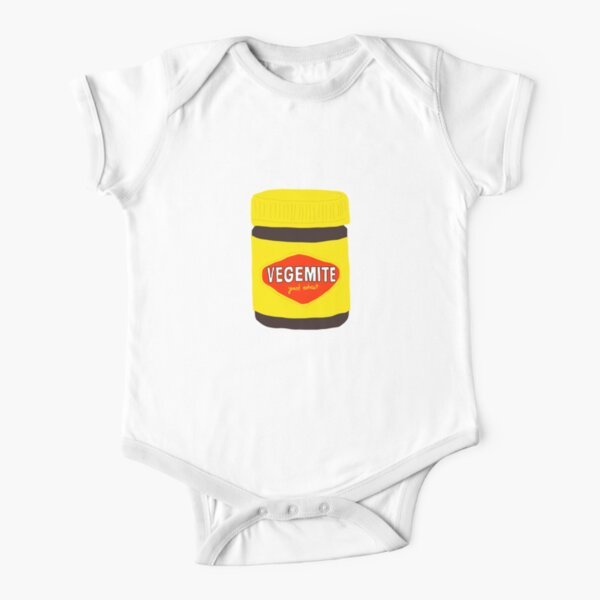Vegemite she'll be right Aussie icon cute Australian icon Short Sleeve Baby One-Piece