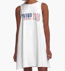 Trump 2020 Flag A-Line Dress