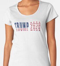 Trump 2020 Flag Premium Scoop T-Shirt