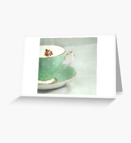Apple green teacup Greeting Card