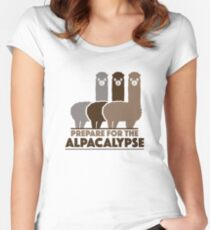 Prepare For The Alpacalypse Women's Fitted Scoop T-Shirt