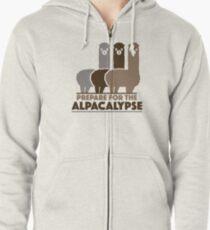 Prepare For The Alpacalypse Zipped Hoodie