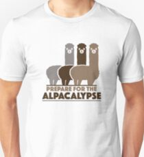 Bereiten Sie sich auf das Alpacalypse vor Slim Fit T-Shirt