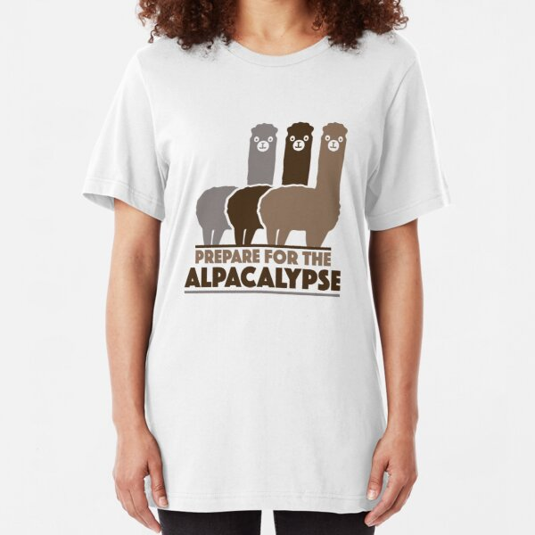 Prepare For The Alpacalypse Slim Fit T-Shirt