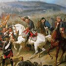 Frederick the Great in the midst of Battle by edsimoneit