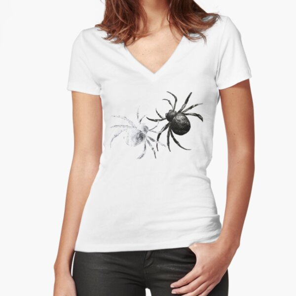 2 spiders Fitted V-Neck T-Shirt