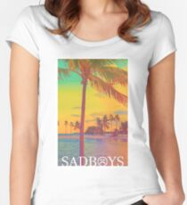 SADBOYS Beach Women's Fitted Scoop T-Shirt