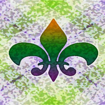Fleur de Lis Speckled by brattigrl