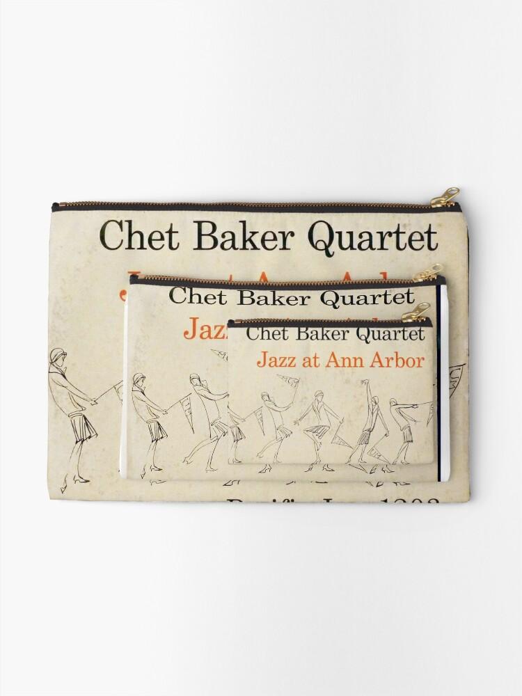 Alternate view of Chet Baker Quartet – Jazz At Ann Arbor  Zipper Pouch