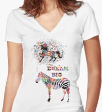 Dream Big Women's Fitted V-Neck T-Shirt