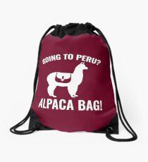 Going To Peru? Drawstring Bag