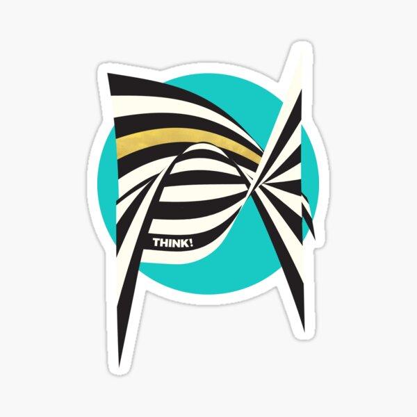 THINK! – Wavy Stripes on Luxury Blue Sticker