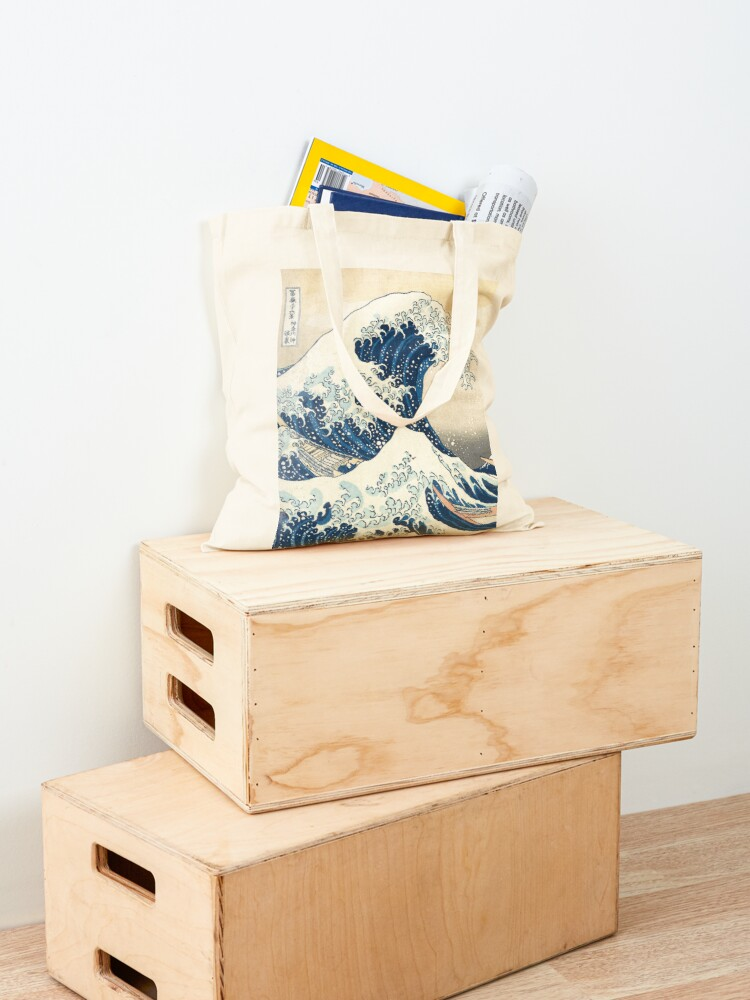 Alternate view of The Great Wave of Kanagawa of Hokusai Tote Bag