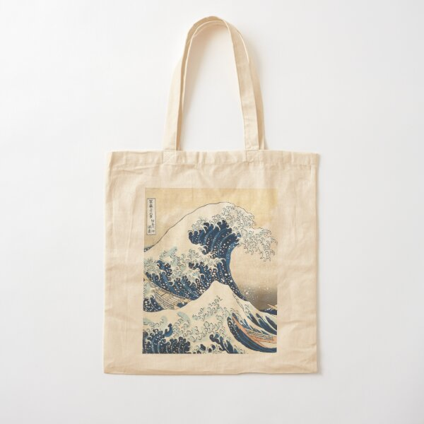 The Great Wave of Kanagawa of Hokusai Cotton Tote Bag