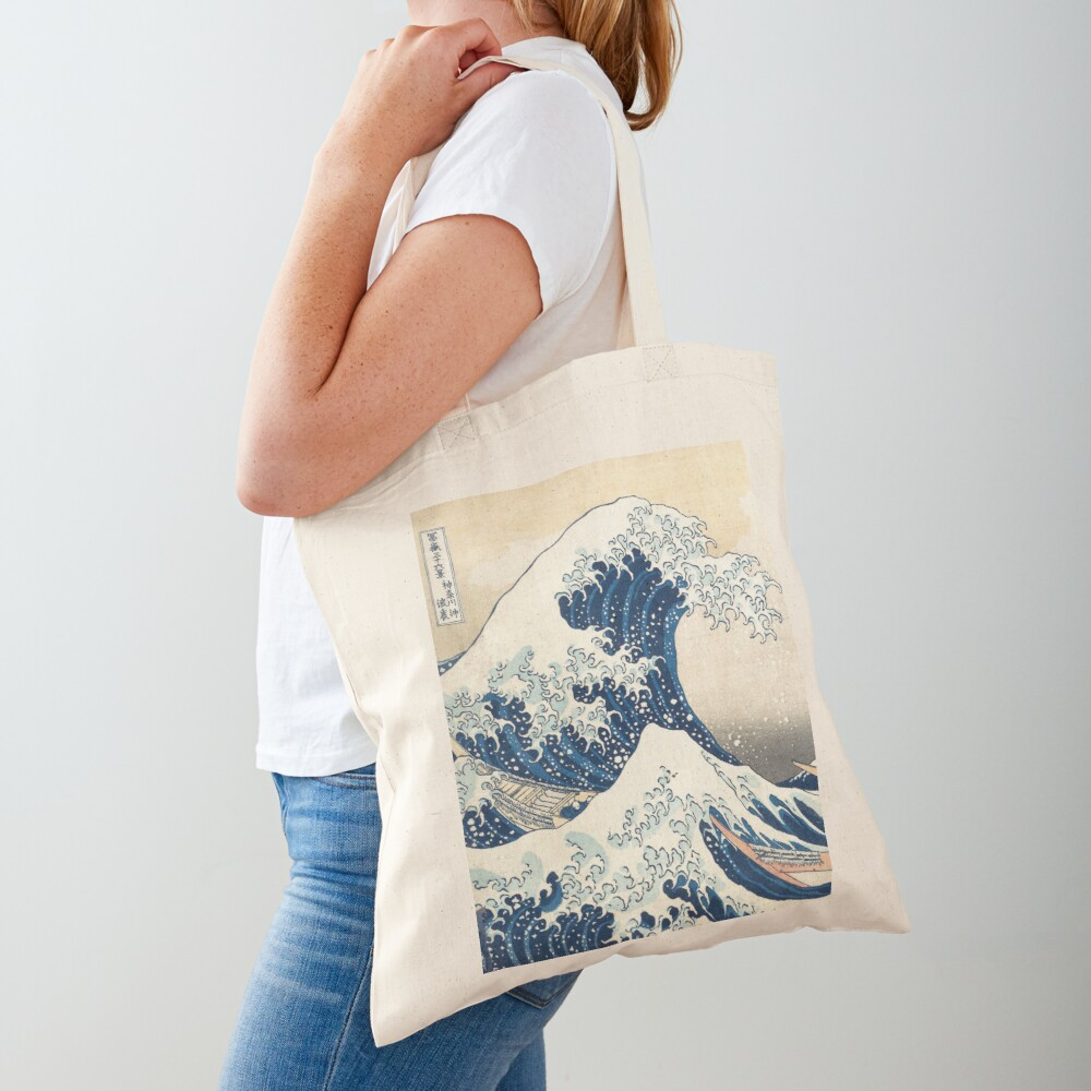 The Great Wave of Kanagawa of Hokusai Tote Bag