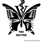 Vet Med After Hours You Matter Butterfly Notebook by vetmedafter