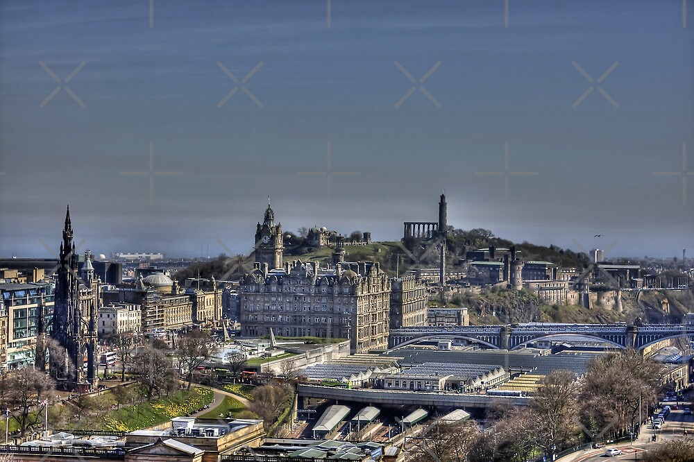 The view to Calton Hill by Tom Gomez