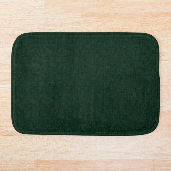 Textured dark green, solid green Bath Mat