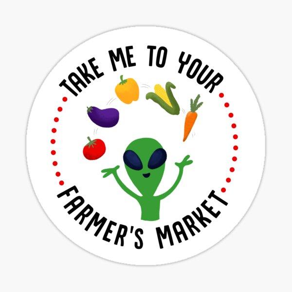Farmer's Market Alien Sticker