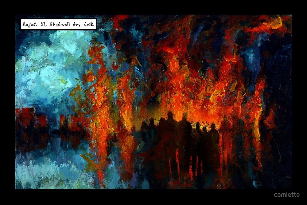 Altered, Fire at the Dry Docks by Cameron Hampton
