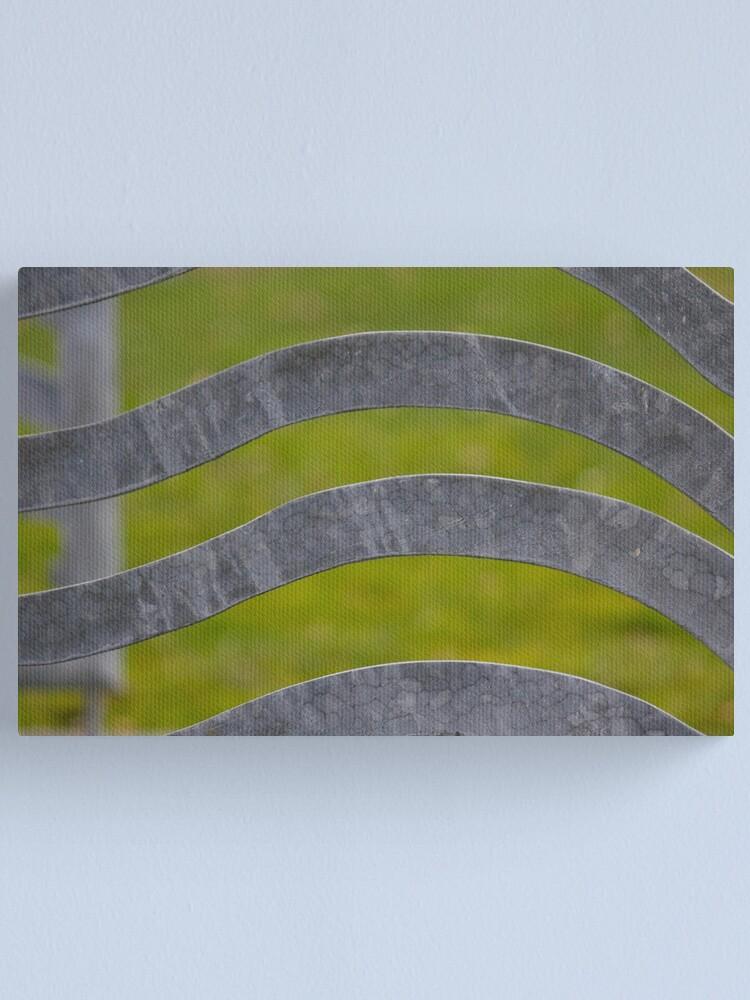 Alternate view of Waves of Steel Canvas Print