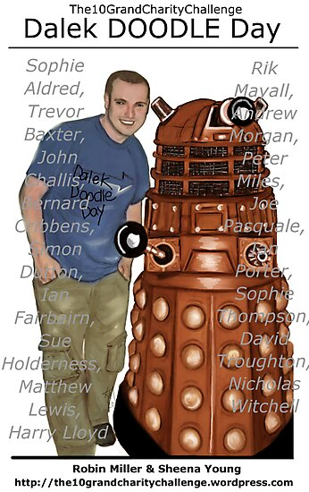 Dalek DOODLE Day! - The10GrandCharityChallenge by Kristen McLachlan